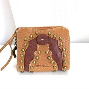 Betsey Johnson Horseshoe Hobo Leather Wallet